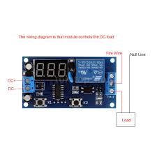 dc 12v digital delay time module switch control relay cycle timer