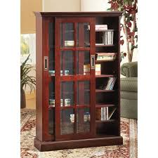dvd cabinets with glass doors furniture glossy black dvd cabinet with double swinging doors