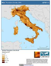 Maps Italy Maps Gridded Population Of The World Gpw V3 Sedac