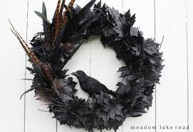 images of black feather halloween wreath how to make a spooky