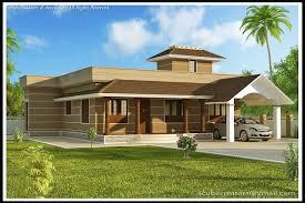 1400 square feet 3 bedroom single floor kerala style modern home