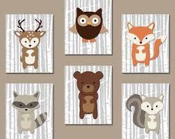 cadre deco chambre bebe cadres animaux de la forêt chambre bébé idées déco