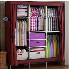 clothes storage cabinets with doors 2018 triple portable clothes wardrobe closet cabinet garment rack