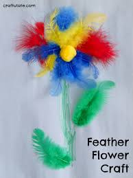 feather flower feather flower craft craftulate