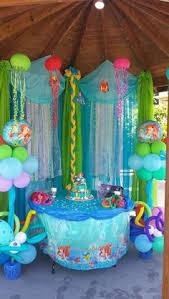 mermaid birthday party idéia para festa pequena sereia ou fundo do mar scalloped