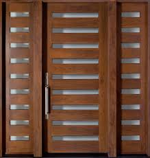 exterior design elegant brown wooden rail pattern modern front