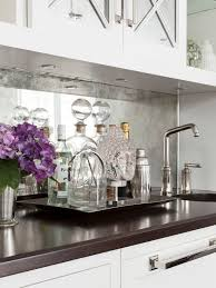 Mirrored Kitchen Backsplash Susan Glick Interiors Butlers Pantry Design Antique Mirrored
