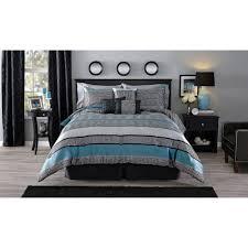 mainstays preston 7 piece comforter set walmart com