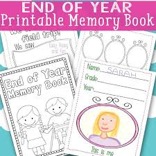 end of year memory book free printable easy peasy and fun