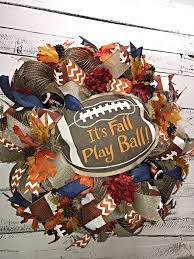 Decorative Wreaths For Home by Fall Football Wreath Fall Wreath Fall Wreath For Front Door