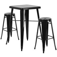 Outdoor Bar Table And Stools Metal Indoor Outdoor Bar Table Set With 2 Barstools Free