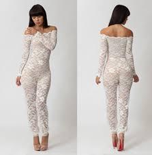 lace jumpsuit women clothes hollow out natural color one