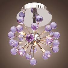Kids Room Light Fixture by Modern 6 Light Crystal Semi Flush Mount Chandelier Ceiling Pendant