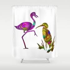 Curtains Birds Theme Exotic Shower Curtains Foter