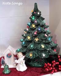 musical rotates lights up retired hallmark ceramic christmas tree