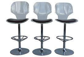 lucite swivel bar stools by hill manufacturing modernism