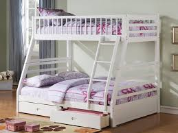 Futon Bunk Bed Plans by White Bunk Bed With Futon Roselawnlutheran