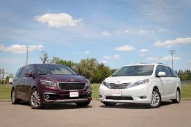 2015 minivan 2015 toyota sienna vs 2015 kia sedona youtube