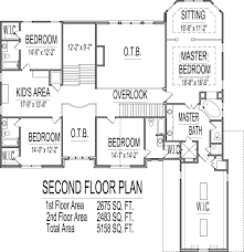 5000 sq ft house floor plans 5 bedroom 2 story designs blueprints rear stair 5 bedroom 2 story house plans 5100 sq ft atlanta augusta macon georgia columbus