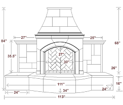 Standard Fireplace Dimensions by Outdoor Kitchen Dimensions Google Search Outdoor Retreat