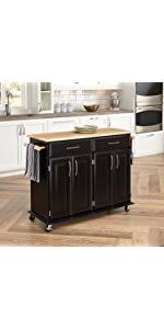 kitchen island oak amazon com home styles 5003 94 kitchen island black and