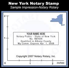 new york notary seal stamp pre inked