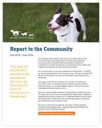 annual report animal humane society