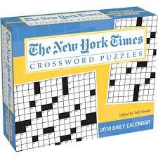 Desk Daily Calendar The New York Times Crossword Puzzles 2018 Desk Calendar
