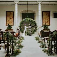 wedding arbor used trend we re loving circle installations brides