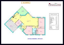 plan maison plain pied 2 chambres garage délicieux plan maison avec cotation 6 plan maison plain pied 2