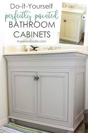 is nuvo cabinet paint diy perfectly painted bathroom cabinets in a day my wee abode