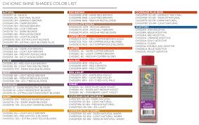 shades of red list chi ionic shine shades chi hair care professional hair care products