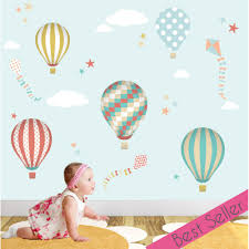 Farm Animal Wall Stickers Hot Air Balloon Wall Stickers Enchanted Interiors