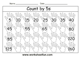 counting by 5s worksheet worksheets