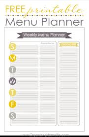 Organized Home Printable Menu Planner | free menu planning printable organize your kitchen frugally day 21