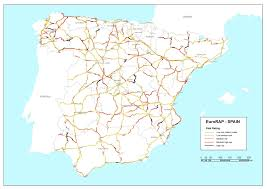 Andalucia Spain Map by Eurorap U2013 Spain Risk Mapping Archive