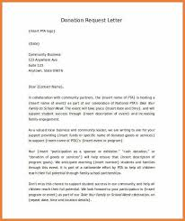 sample donation request letter project donation request project
