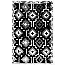 Black And White Outdoor Rug Lhasa Outdoor Rug Black White Terrace Outdoor Living
