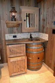 cave bathroom ideas the 25 best whiskey barrel sink ideas on