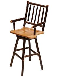 Wooden Swivel Bar Stool Furniture Brown Wooden Swivel Counter Height Stool With Curved