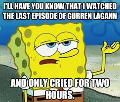 Gurren Lagann Memes - i ll have you know that i watched the last episode of gurren