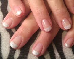 glittery white french tip nails white french tip gel nails with