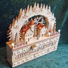 wood advent calendar lighted wooden advent calendar winter pre order