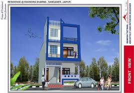 small 3 storey house design modern front house elevation