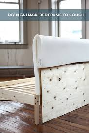 Ikea Hack Chairs by Ikea Hack Turning A Fjellse Bedframe Into A Couch Curbly