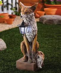 lifesize noble fox garden statue outdoor garden ideas