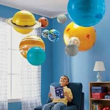 Pottery Barn Kids Solar System Nathan Planets Outer Space Mobile - Hanging solar system for kids room