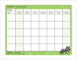 family schedule templates u2013 12 free word excel pdf format