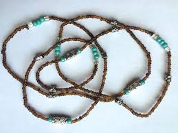 hip necklace chain images Waist beads belly chain boho body jewelry turquoise silver brown jpg