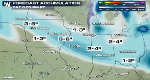 South Dakota travel warnings images Snow showers to impact travel in the midwest weathernation png